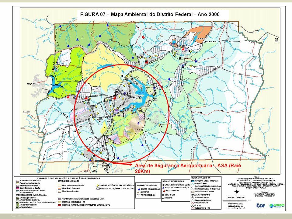 FIGURA 07 – Mapa Ambiental do Distrito Federal – Ano 2000
