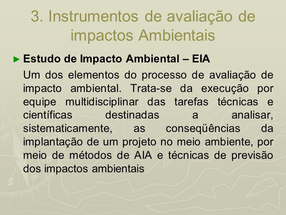 3. Instrumentos de avaliação de impactos Ambientais
