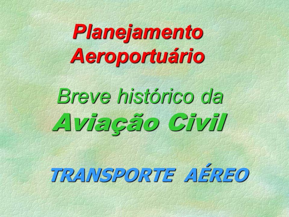 Planejamento Aeroportuário Breve histórico da Aviação Civil