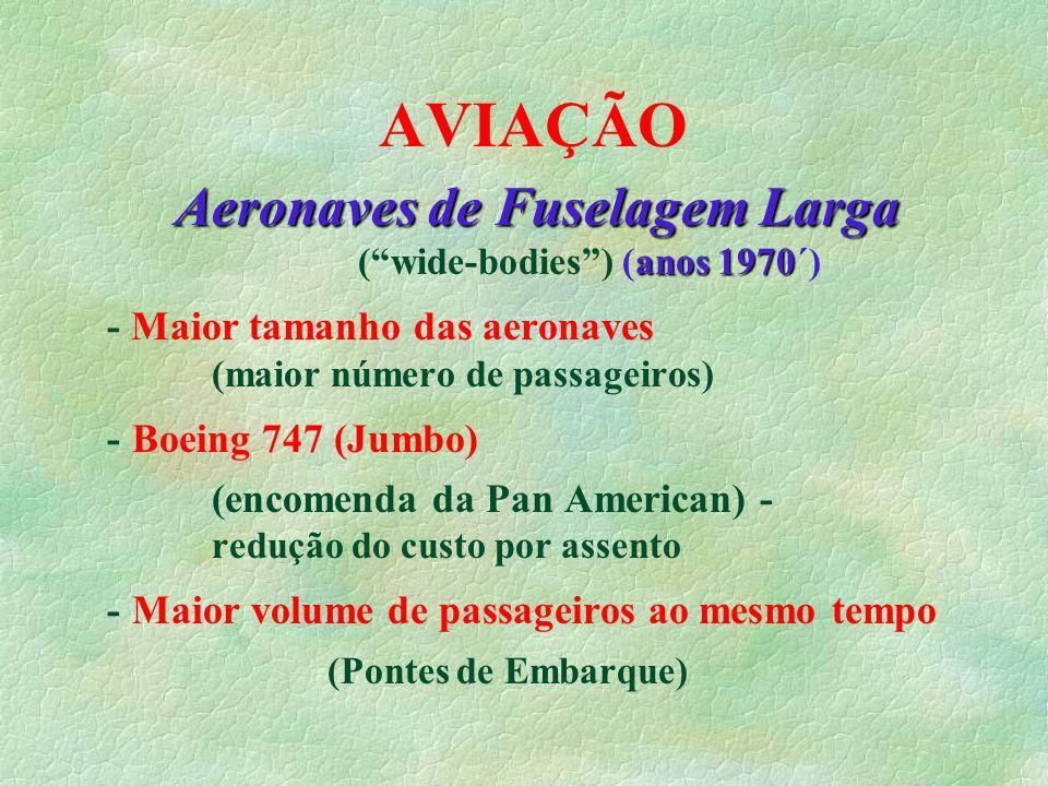 Aeronaves de Fuselagem Larga ( wide-bodies ) (anos 1970´)