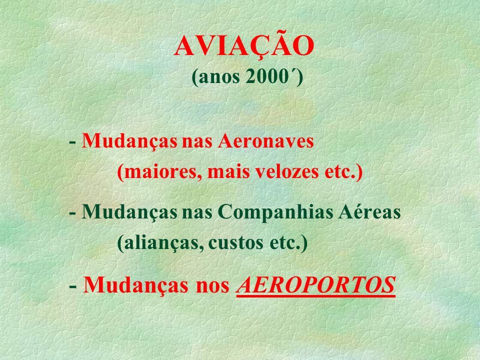 AVIAÇÃO - Mudanças nos AEROPORTOS (anos 2000´)
