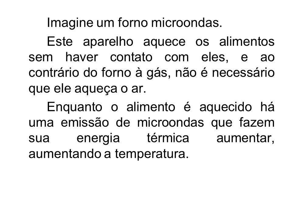 Imagine um forno microondas.