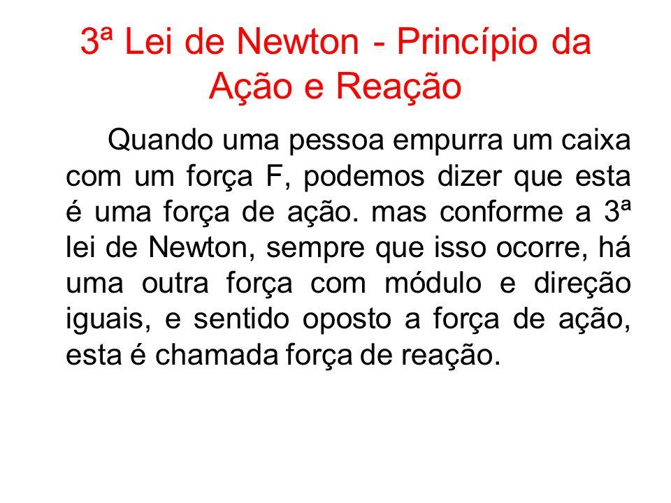 3ª Lei de Newton - Princípio da Ação e Reação