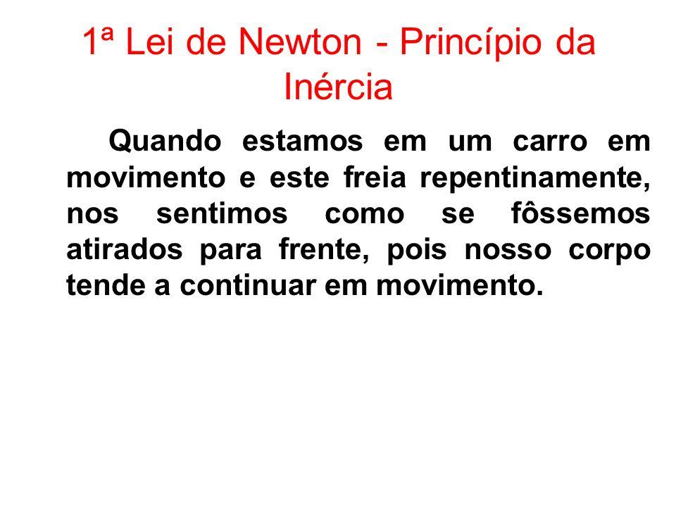1ª Lei de Newton - Princípio da Inércia