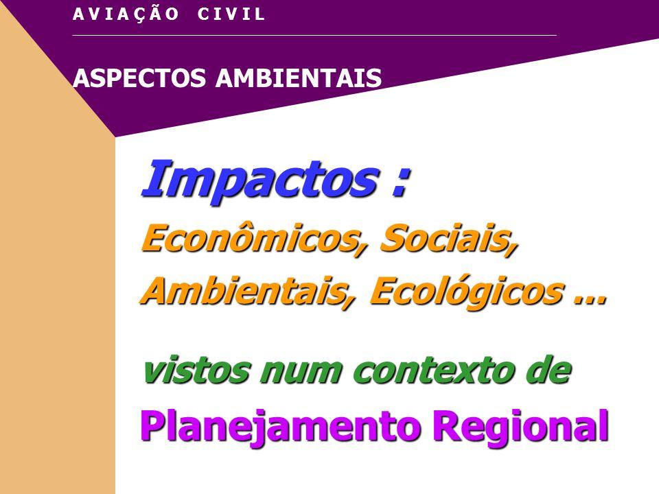 Impactos : Planejamento Regional Econômicos, Sociais,