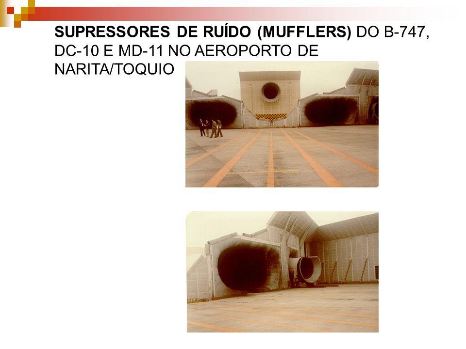 SUPRESSORES DE RUÍDO (MUFFLERS) DO B-747, DC-10 E MD-11 NO AEROPORTO DE NARITA/TOQUIO