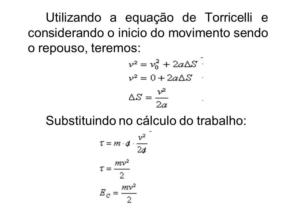 Utilizando a equação de Torricelli e considerando o inicio do movimento sendo o repouso, teremos:
