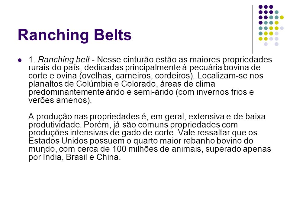 Ranching Belts