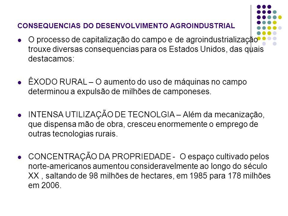 CONSEQUENCIAS DO DESENVOLVIMENTO AGROINDUSTRIAL