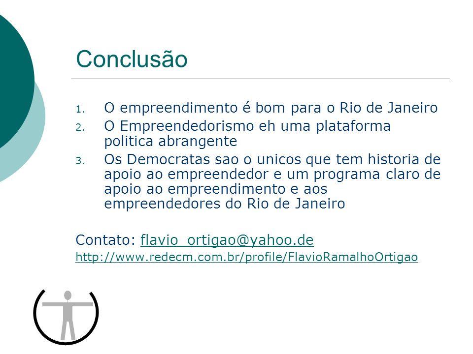 Conclusão O empreendimento é bom para o Rio de Janeiro