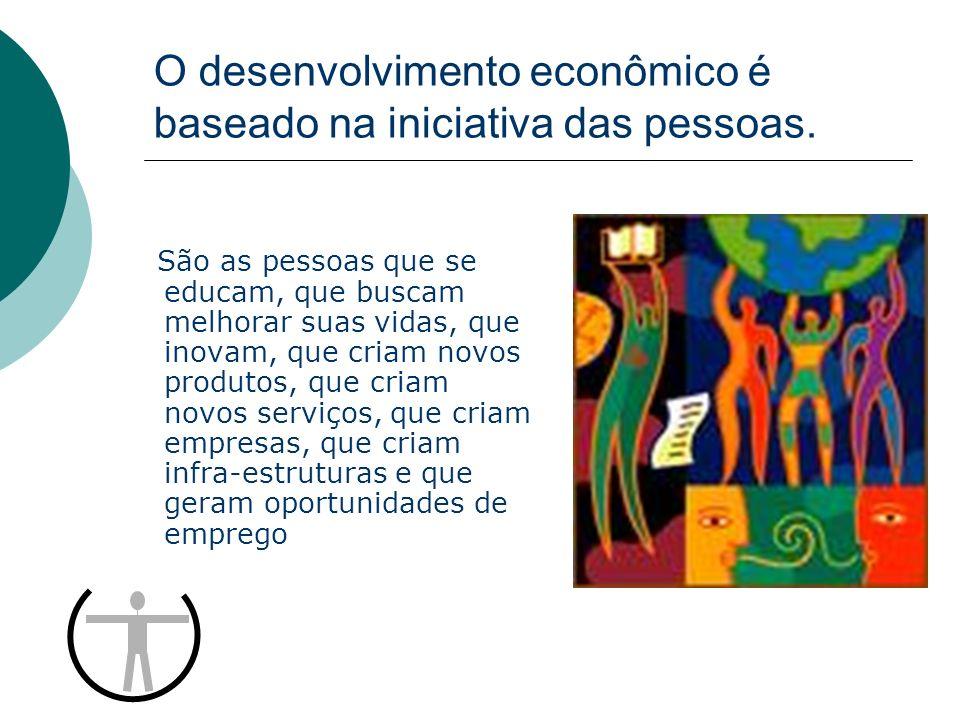 O desenvolvimento econômico é baseado na iniciativa das pessoas.