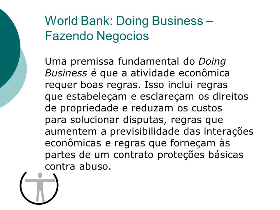 World Bank: Doing Business – Fazendo Negocios