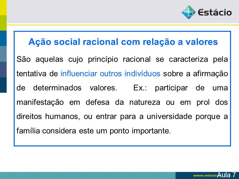 Ação social racional com relação a valores