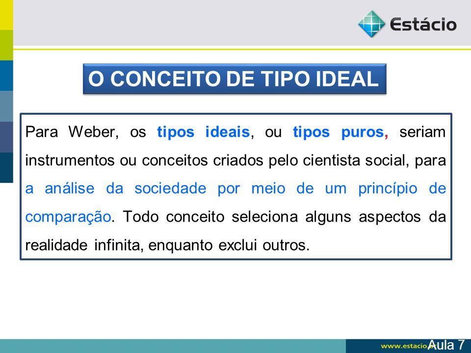 O CONCEITO DE TIPO IDEAL
