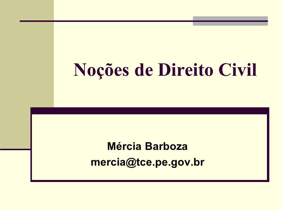 Noções de Direito Civil