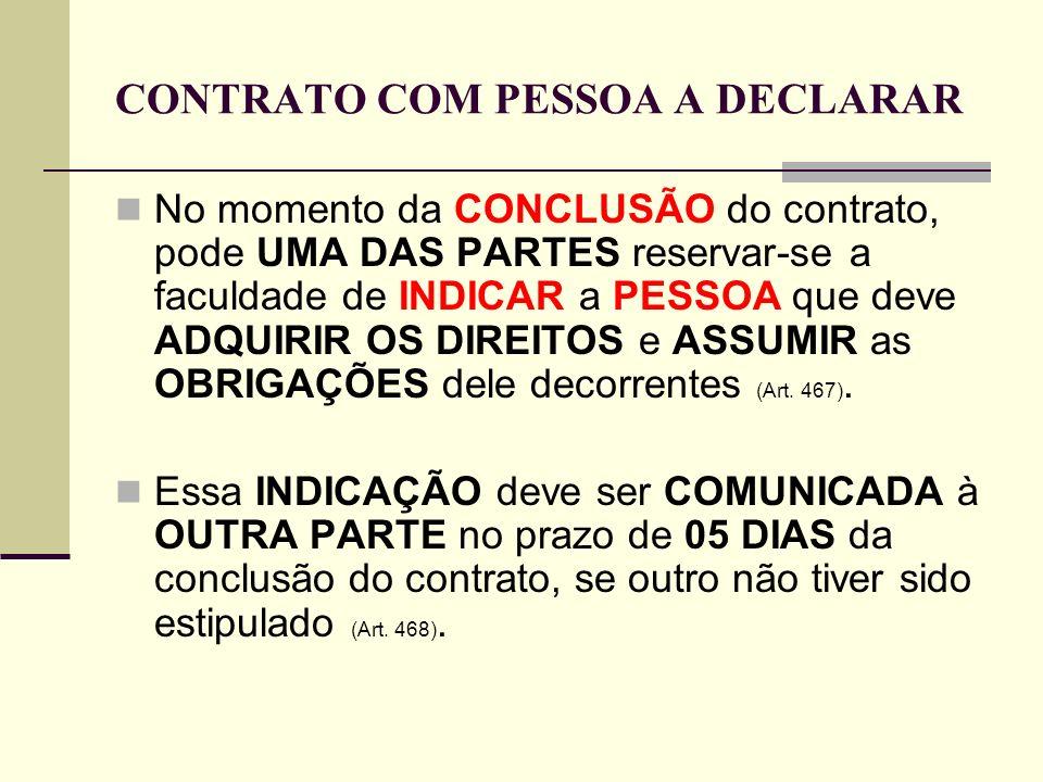 CONTRATO COM PESSOA A DECLARAR