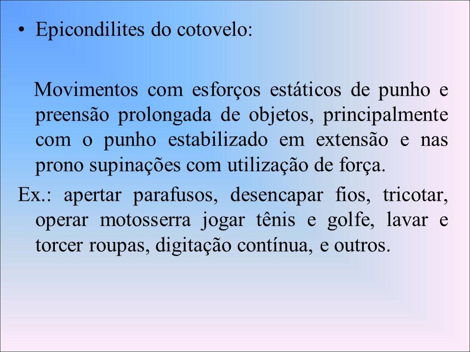 Epicondilites do cotovelo: