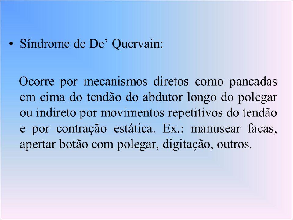 Síndrome de De' Quervain: