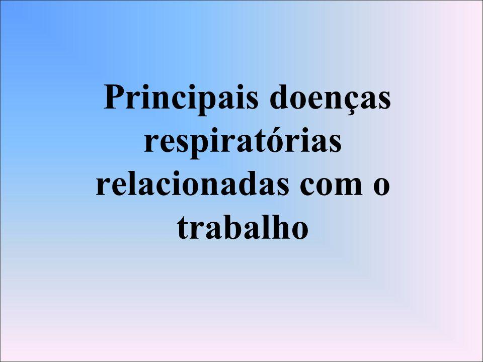 Principais doenças respiratórias relacionadas com o trabalho