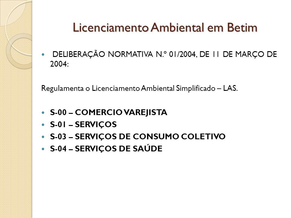Licenciamento Ambiental em Betim