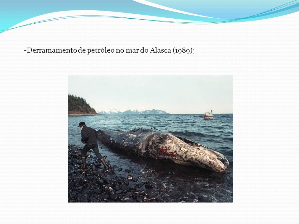 Derramamento de petróleo no mar do Alasca (1989);