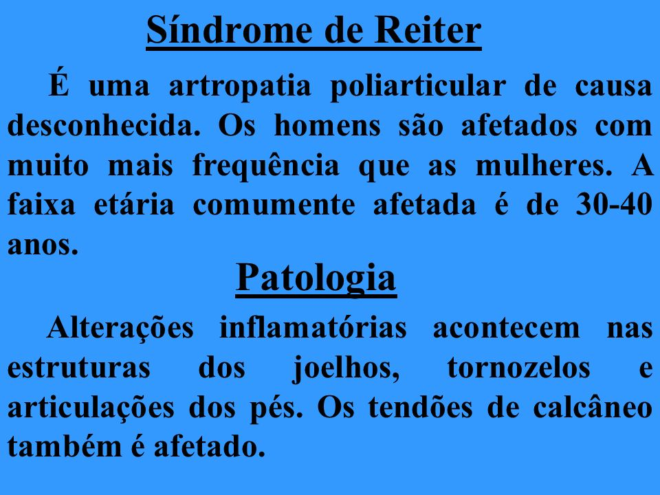 Síndrome de Reiter Patologia