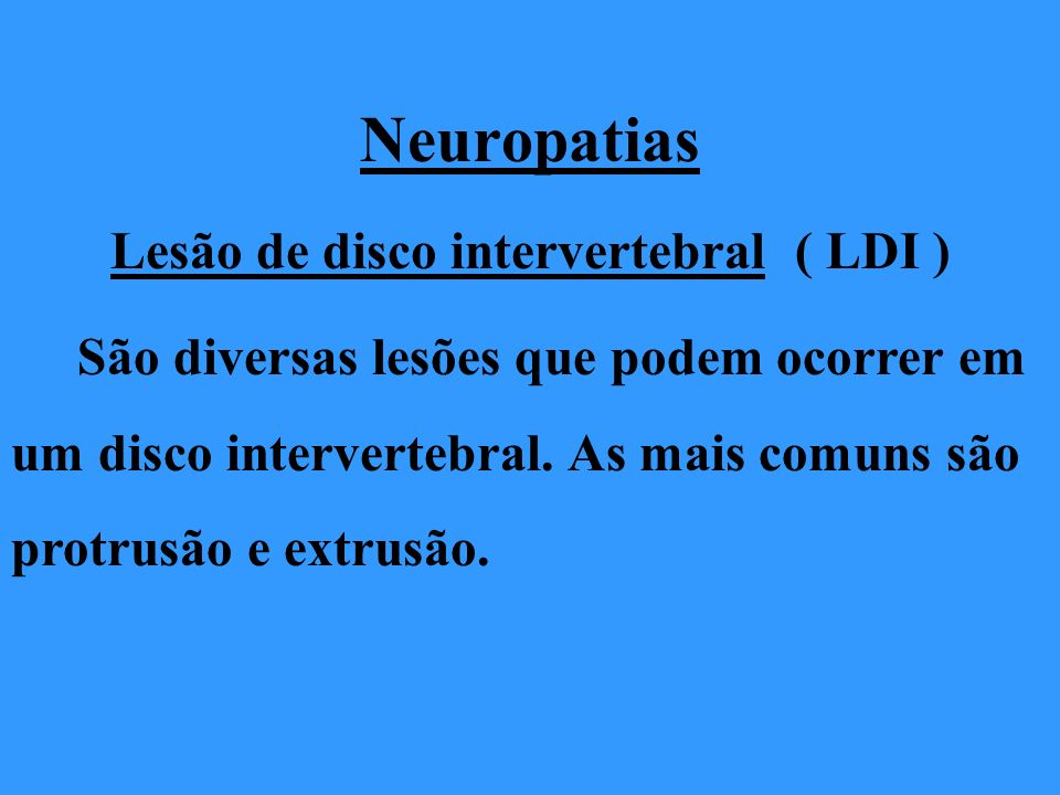 Lesão de disco intervertebral ( LDI )