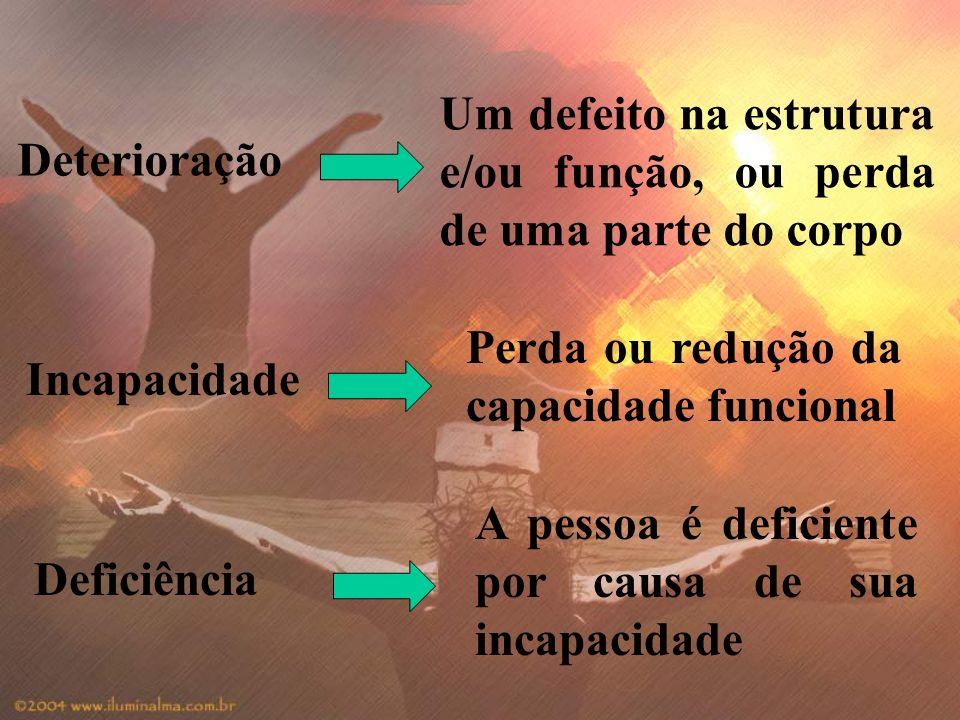 Um defeito na estrutura e/ou função, ou perda de uma parte do corpo