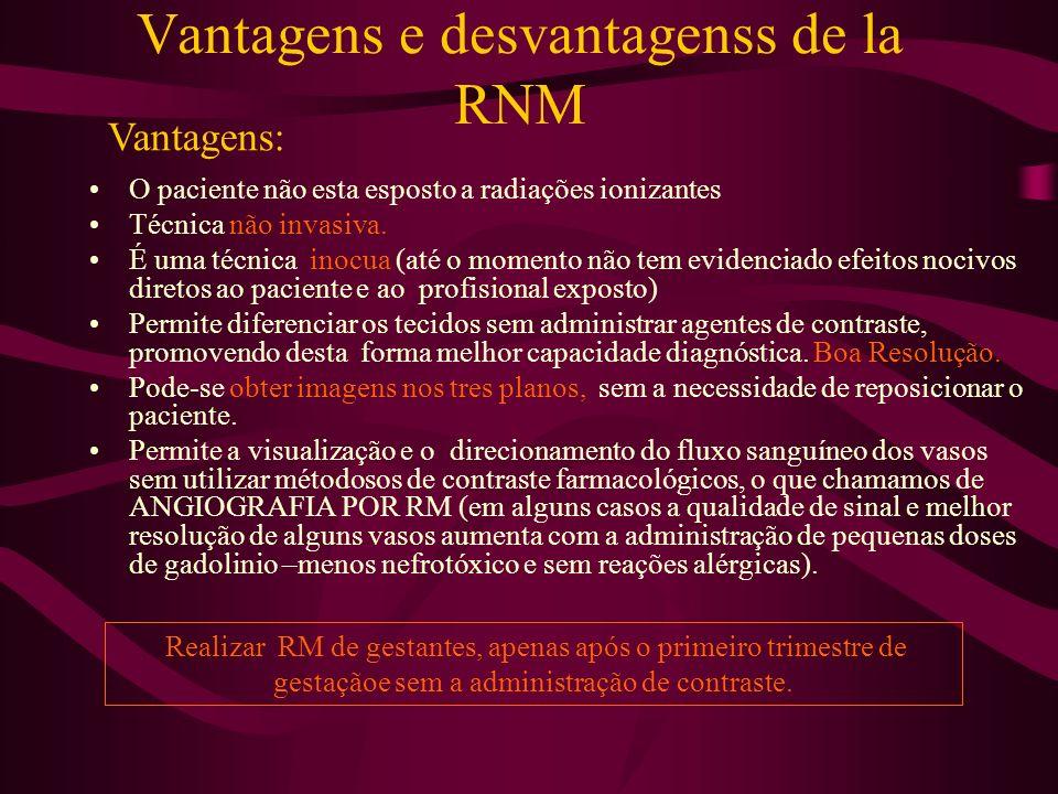 Vantagens e desvantagenss de la RNM