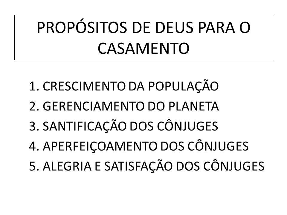 PROPÓSITOS DE DEUS PARA O CASAMENTO