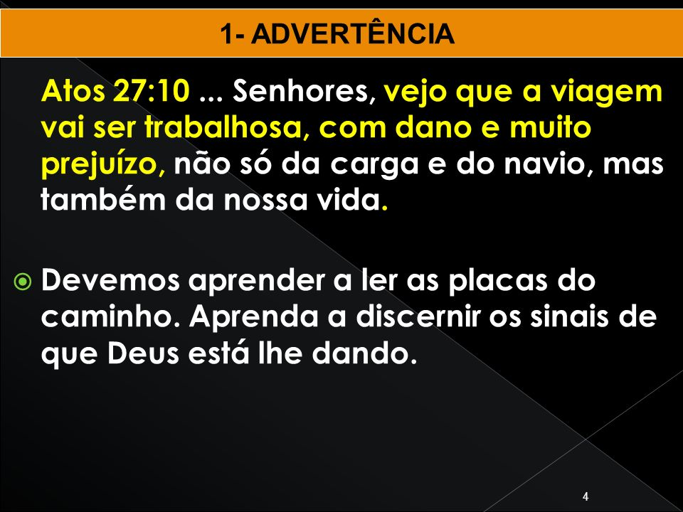 1- ADVERTÊNCIA