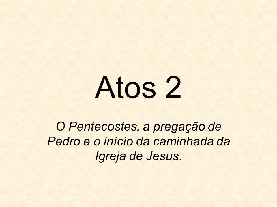 Atos 2 O Pentecostes, a pregação de Pedro e o início da caminhada da Igreja de Jesus.