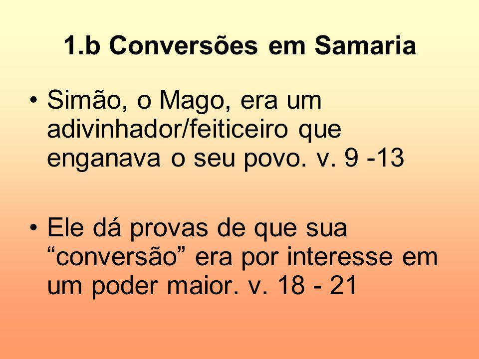1.b Conversões em Samaria