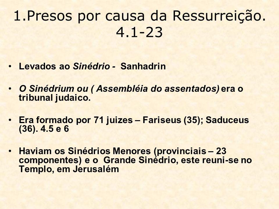 1.Presos por causa da Ressurreição. 4.1-23