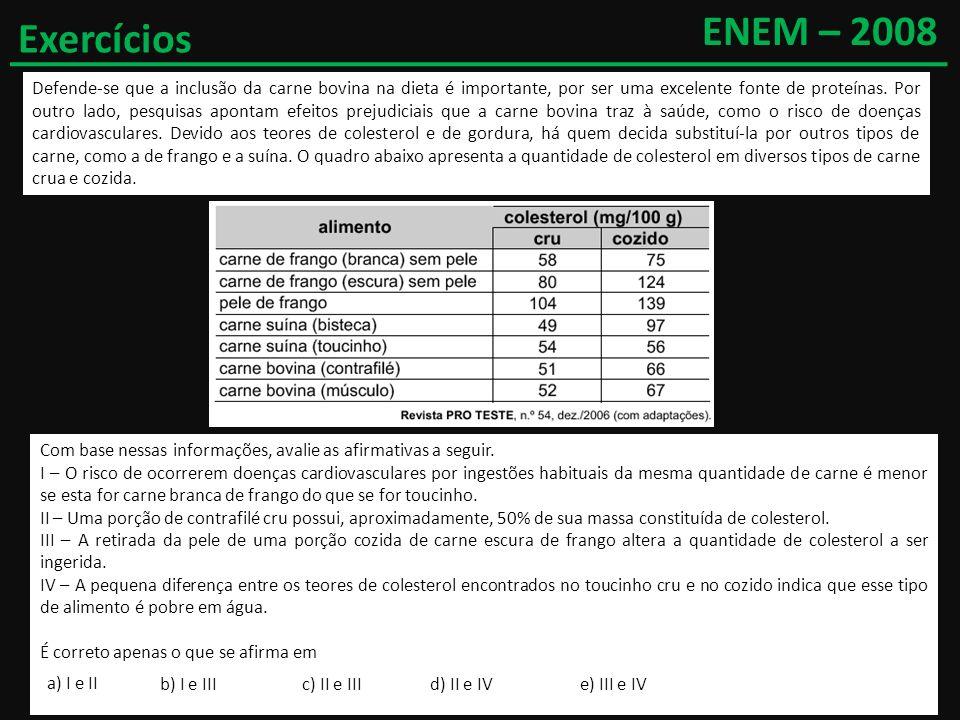ENEM – 2008 Exercícios.