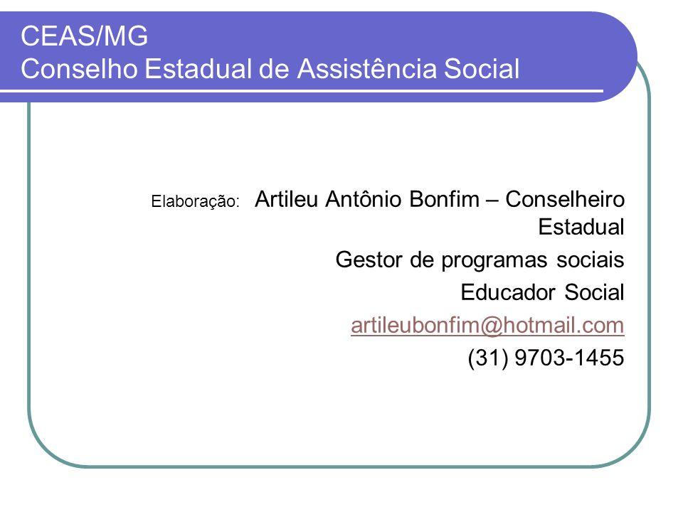 CEAS/MG Conselho Estadual de Assistência Social