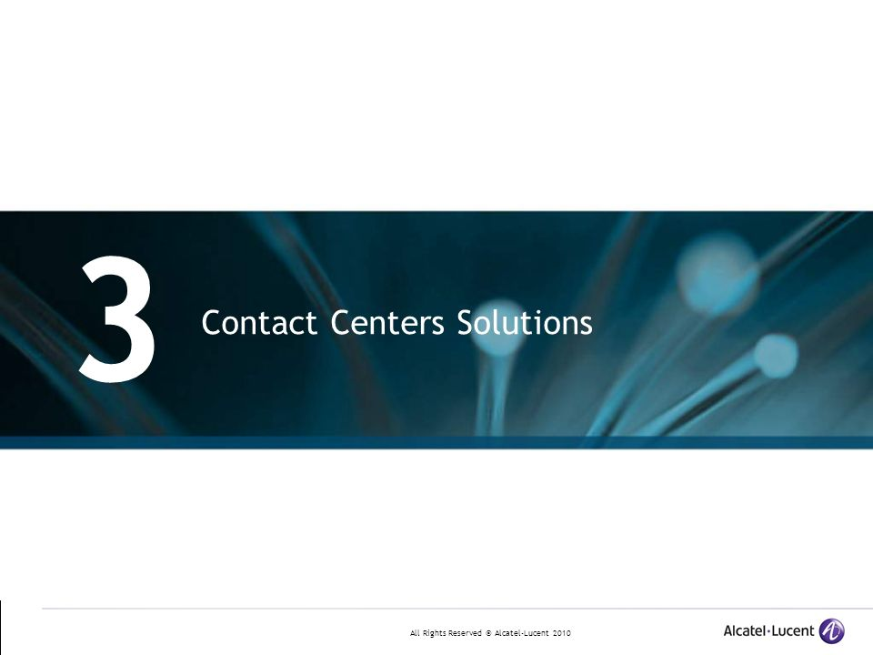 3 Contact Centers Solutions