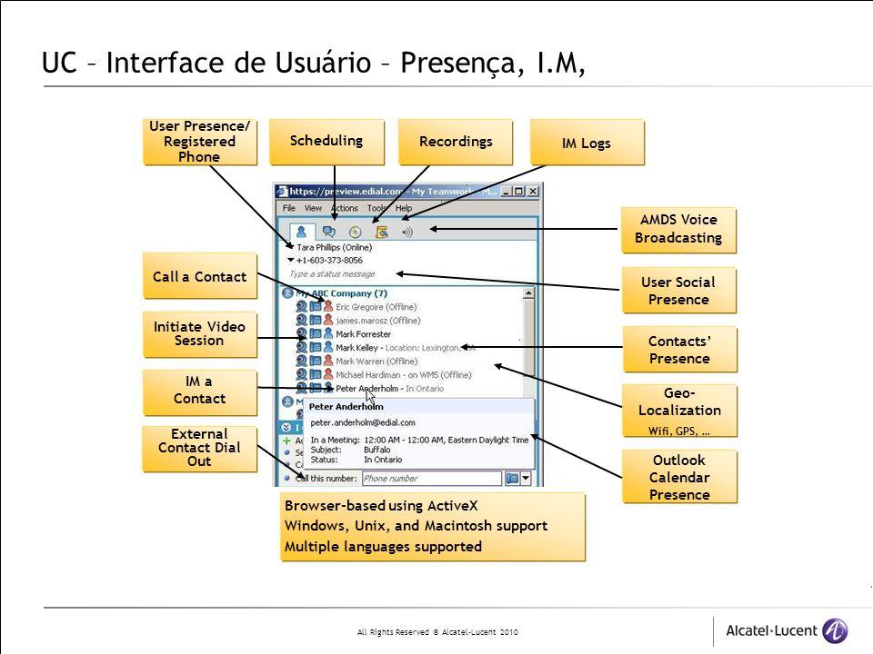 UC – Interface de Usuário – Presença, I.M,