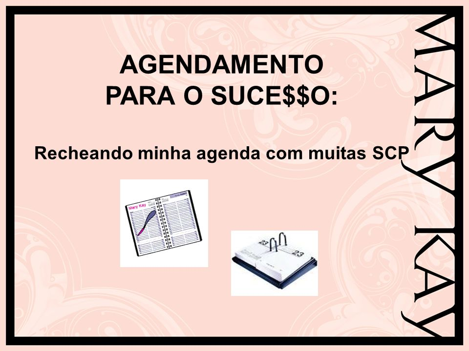 AGENDAMENTO PARA O SUCE$$O: Recheando minha agenda com muitas SCP