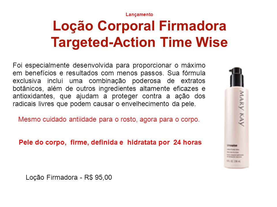 Loção Corporal Firmadora Targeted-Action Time Wise