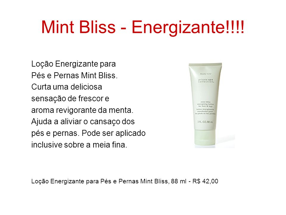 Mint Bliss - Energizante!!!!