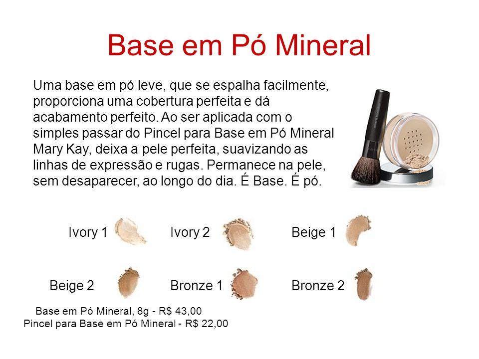 Base em Pó Mineral Ivory 1 Ivory 2 Beige 1