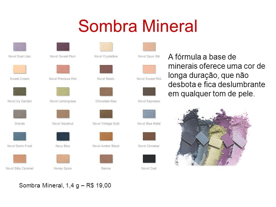 Sombra Mineral A fórmula a base de minerais oferece uma cor de longa duração, que não desbota e fica deslumbrante em qualquer tom de pele.