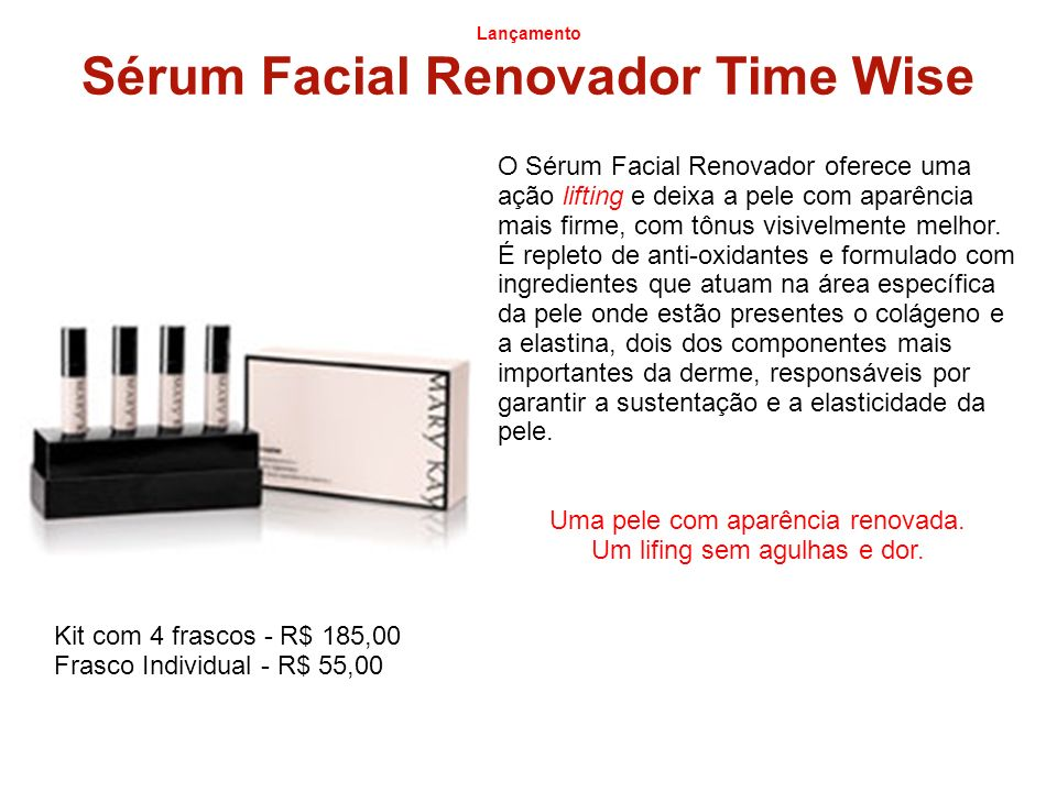 Sérum Facial Renovador Time Wise