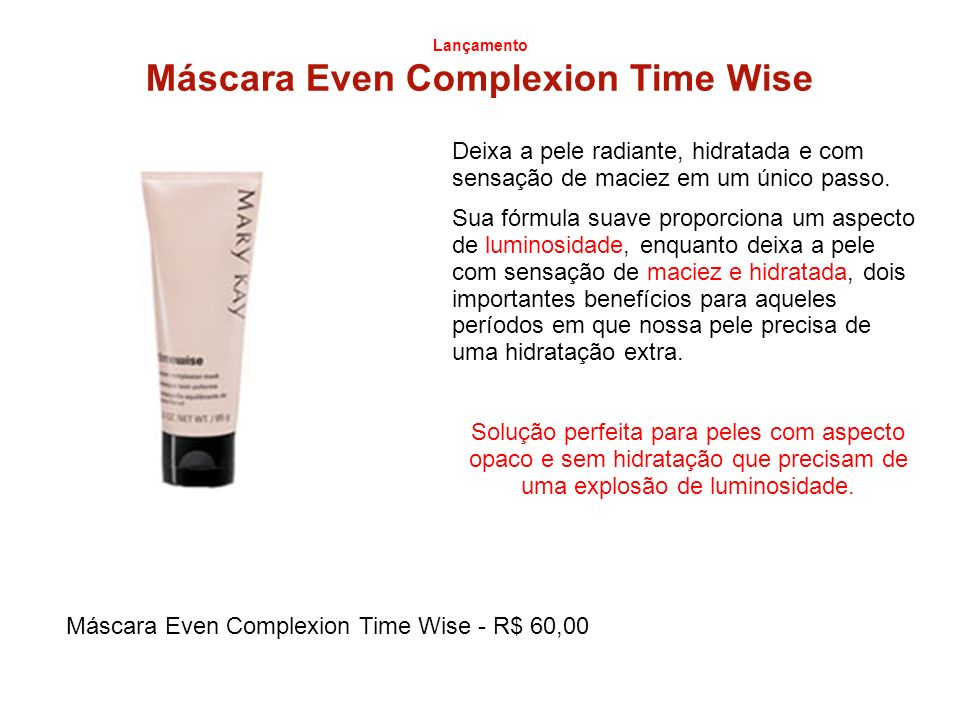 Máscara Even Complexion Time Wise