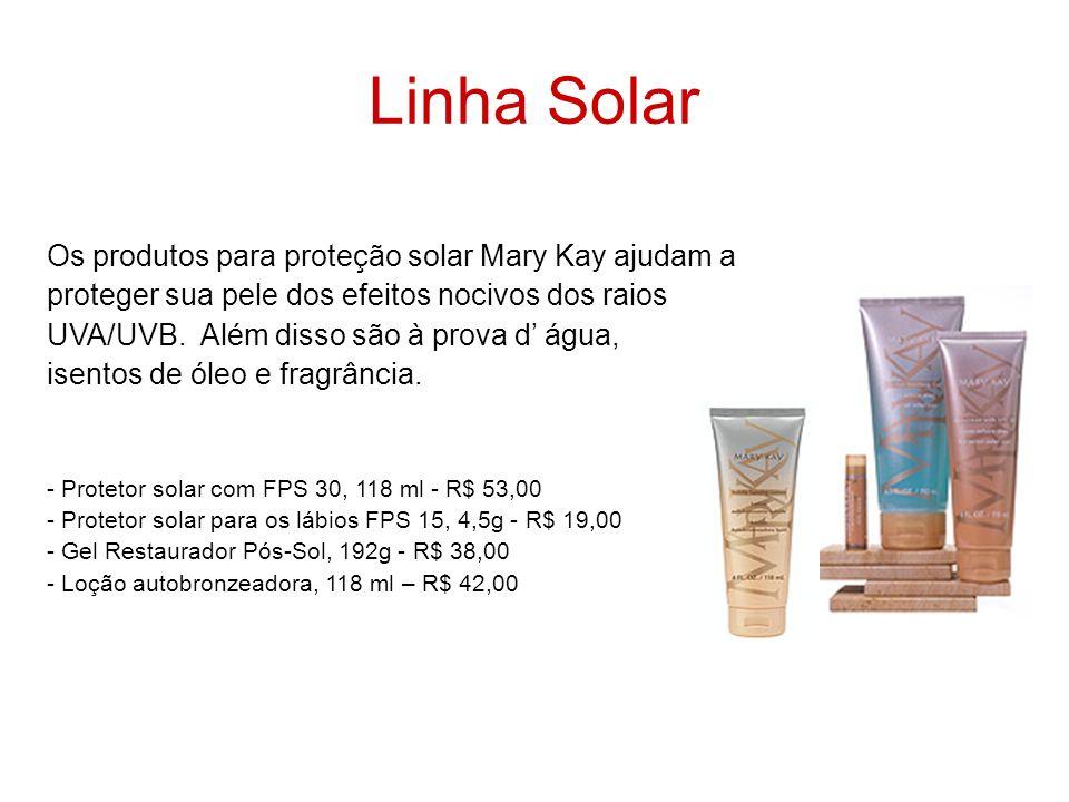 Linha Solar Os produtos para proteção solar Mary Kay ajudam a