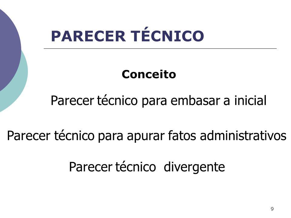 PARECER TÉCNICO Parecer técnico para apurar fatos administrativos