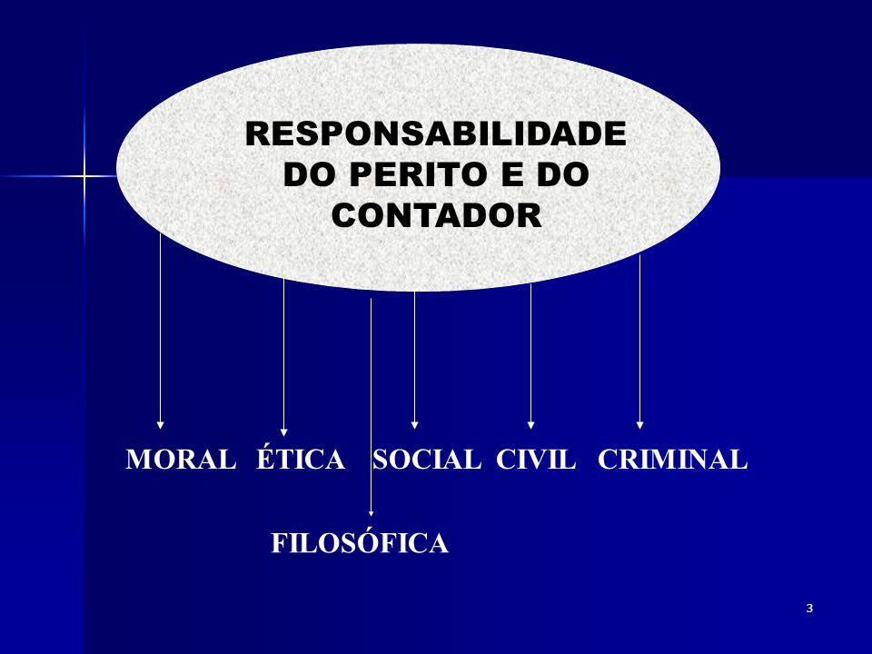 RESPONSABILIDADE DO PERITO E DO CONTADOR