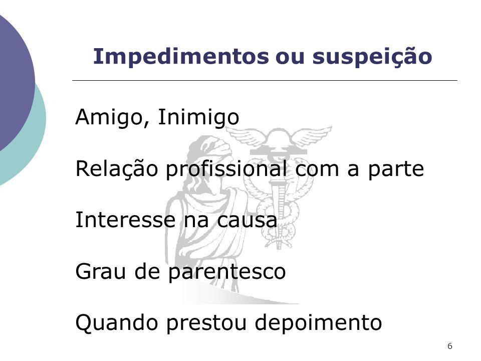 Impedimentos ou suspeição