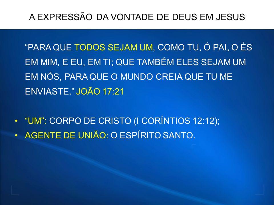 A EXPRESSÃO DA VONTADE DE DEUS EM JESUS